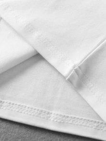 Presi S A Blanco 243;n Botones Sin Mangas Camiseta Con wqz4gRXz8