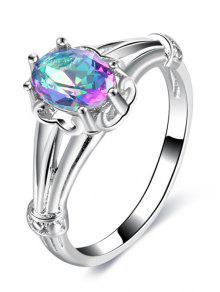 الماس وهمية الشق الإعداد الدائري - فضة 9