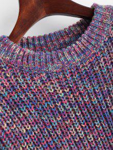 Sleeve Multicolor Multicolor Lantern Chunky Sweater FdwgXx