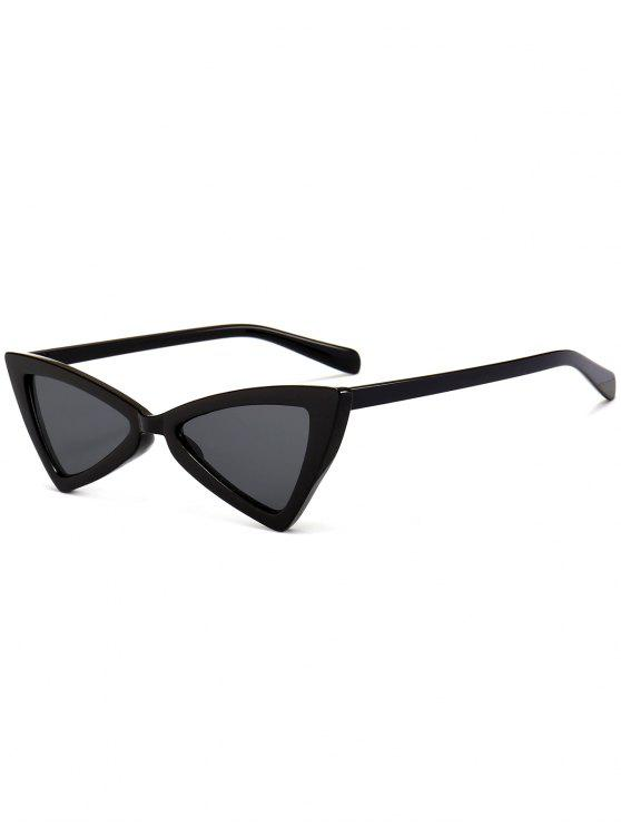 lady Anti-fatigue Full Frame Decoration Irregular Butterfly Sunglasses - BRIGHT BLACK+GREY