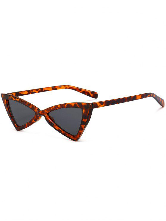 best Anti-fatigue Full Frame Decoration Irregular Butterfly Sunglasses - BROWN LEOPARD