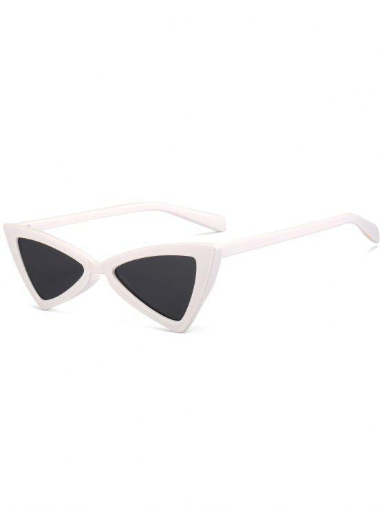 نظارات شمسية مكافحة للتعب بنمط فراشة بإطار كامل - أبيض