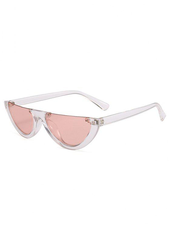 sale Anti-fatigue Half Frame Cat Eye Sunglasses - LIGHT PINK