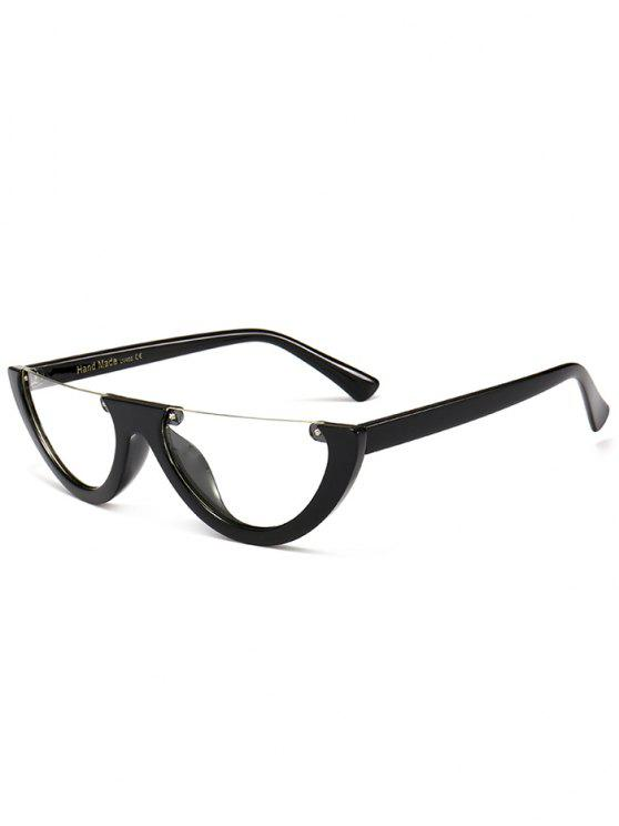 Anti-Müdigkeit Half Frame Cat Eye Sonnenbrille - Transparent