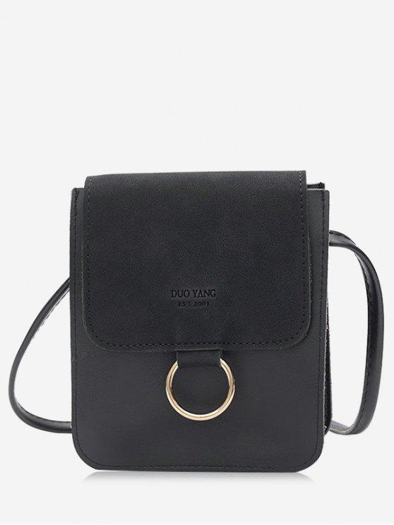 Outfit Metal Hoop Small Crossbody Bag Black