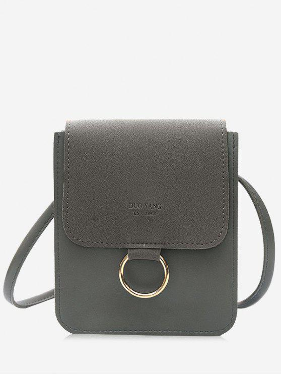 shops Metal Hoop Small Crossbody Bag - GRAY