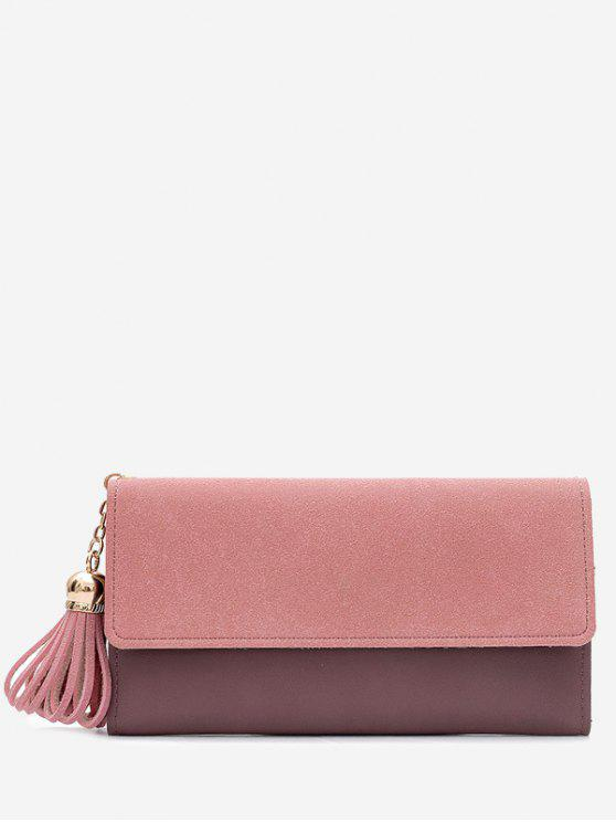affordable Tassel Pendant Long Wallet - PINK