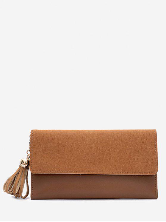 buy Tassel Pendant Long Wallet - BROWN
