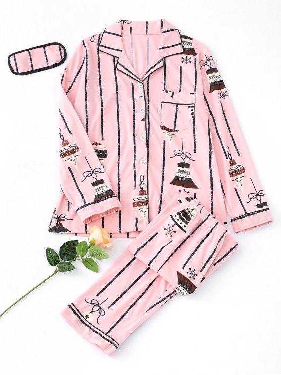 Glocken-Pyjama Set - Rosa XL