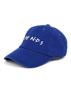 FRIENDS Pattern Embroidery Adjustable Baseball Cap - Deep Blue
