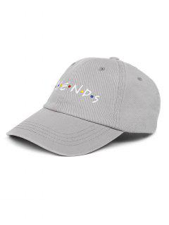 FRIENDS Pattern Embroidery Adjustable Baseball Cap - Gray