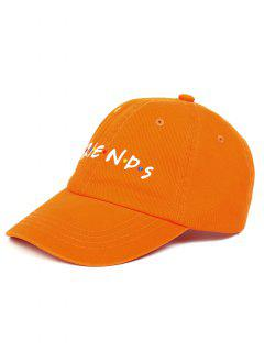 FRIENDS Pattern Embroidery Adjustable Baseball Cap - Orange