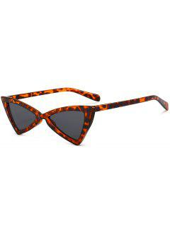 Anti-fatigue Full Frame Decoration Irregular Butterfly Sunglasses - Brown Leopard