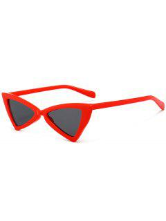 Anti-fatigue Full Frame Decoration Irregular Butterfly Sunglasses - Red