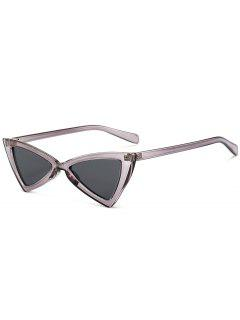 Anti-fatigue Full Frame Decoration Irregular Butterfly Sunglasses - Transparent Gray