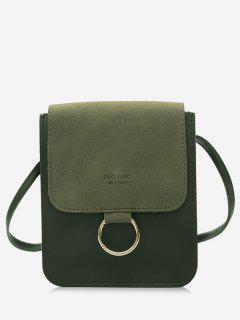 Metal Hoop Small Crossbody Bag - Green