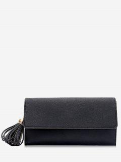 Tassel Pendant Long Wallet - Black