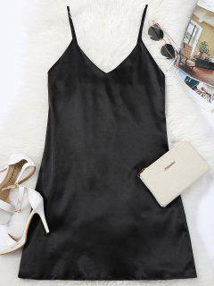 Cami Mini Summer Dress - Black S