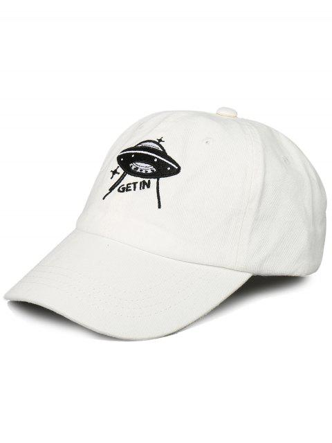Lustige UFO-Muster-Dekorations-justierbare Baseballmütze - Weiß  Mobile