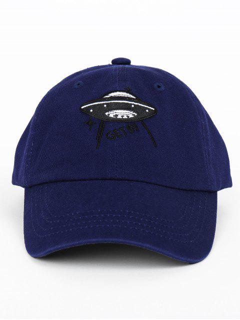Boné Divertido Bordado com Bordado com Estampa de UFO - Azul Escuro  Mobile