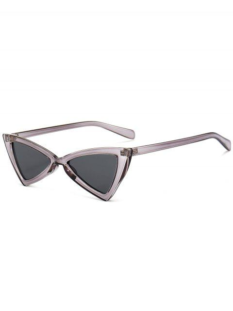 hot Anti-fatigue Full Frame Decoration Irregular Butterfly Sunglasses - TRANSPARENT GRAY  Mobile