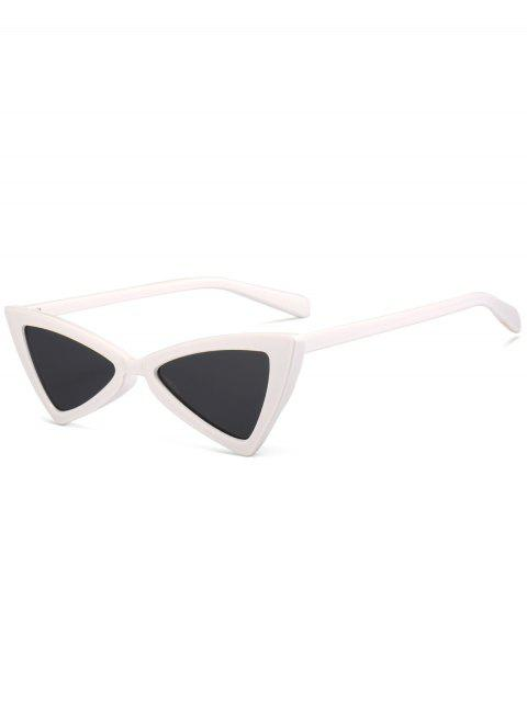 shop Anti-fatigue Full Frame Decoration Irregular Butterfly Sunglasses - WHITE  Mobile