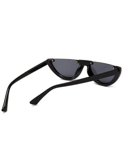 latest Anti-fatigue Half Frame Cat Eye Sunglasses - BRIGHT BLACK+GREY  Mobile