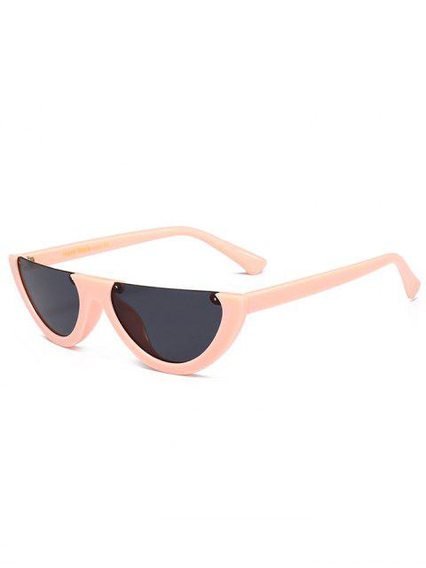 Anti-Müdigkeit Half Frame Cat Eye Sonnenbrille - Schwarz & Pink  Mobile