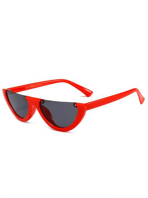 buy Anti-fatigue Half Frame Cat Eye Sunglasses - DEEP RED  Mobile