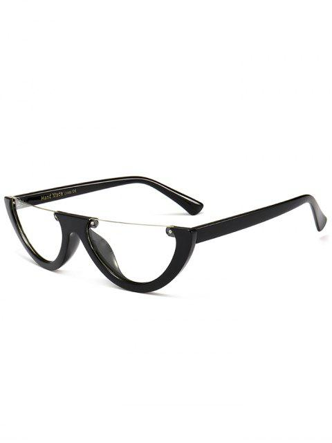 Lunettes de soleil anti-fatigue demi-monture Cat Eye - Transparent  Mobile