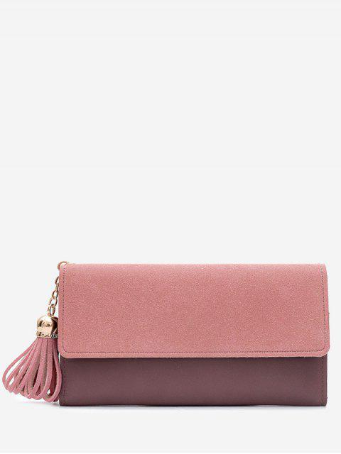 affordable Tassel Pendant Long Wallet - PINK  Mobile