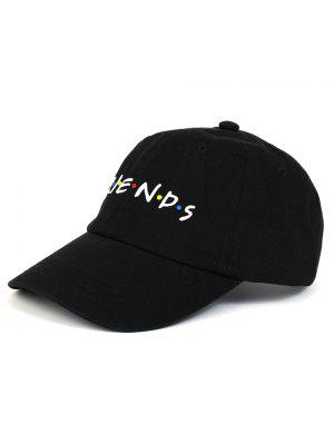 FRIENDS Pattern Embroidery Casquette de baseball ajustable