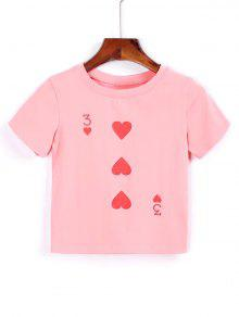 T-shirt Court En Coton - Rose PÂle S