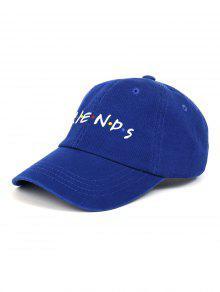 صديق نمط التطريز قابل للتعديل قبعة بيسبول - ازرق غامق