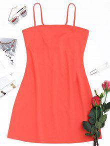 فستان كامي مصغر بونوت ربطة - البطيخ الأحمر L