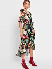 b1ba93db783 Flower Asymmetrical Wrap Maxi Dress; Flower Asymmetrical Wrap Maxi Dress ...