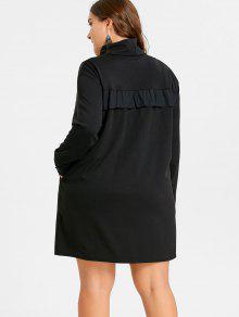 29% OFF] 2019 Plus Size Polka Dot Ruffle Turtleneck Dress In DARK ...