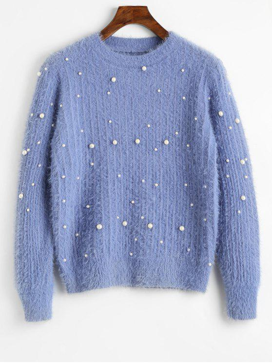 best Crew Neck Beading Sweater - CHARM ONE SIZE