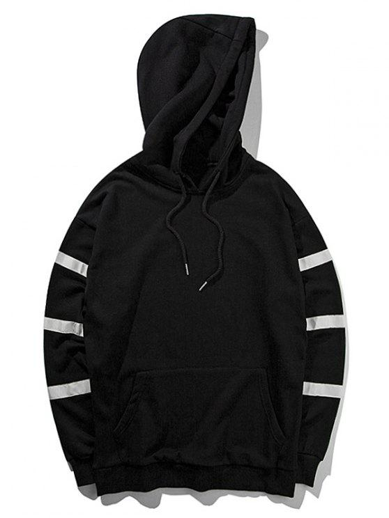 women's Graphic Pullover Hoodie - BLACK M
