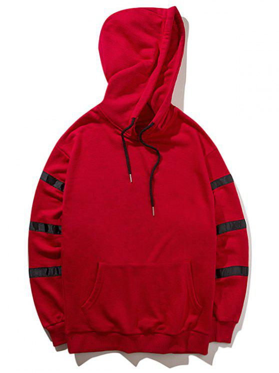 Sweat à Capuche à Motif - Rouge M