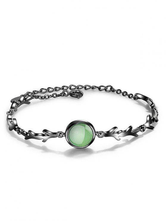 shop Fake Emerald Chain Bracelet - GREEN