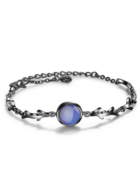 Pulsera de cadena esmeralda falsa - Azul
