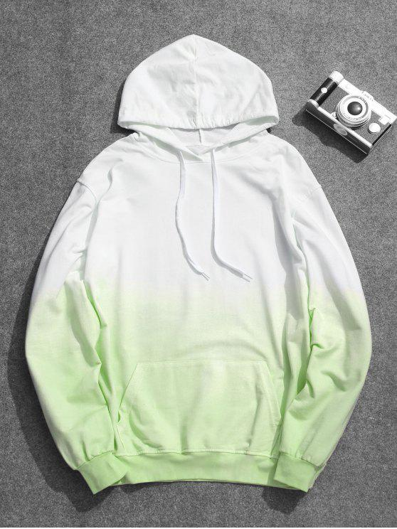 chic Mens Ombre Hoodie - GREEN 3XL
