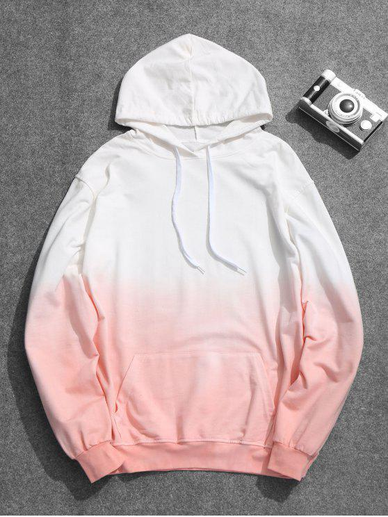 Mens Ombre Hoodie - Pink 2XL