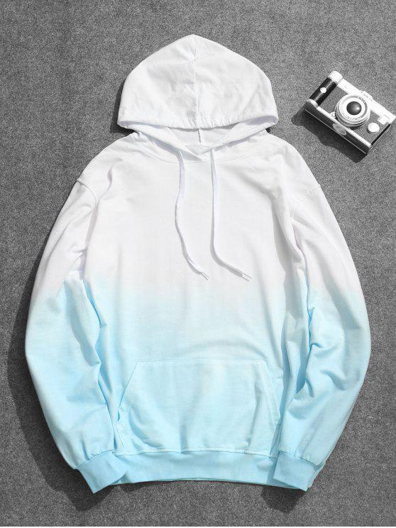 lady Mens Ombre Hoodie - AZURE 5XL