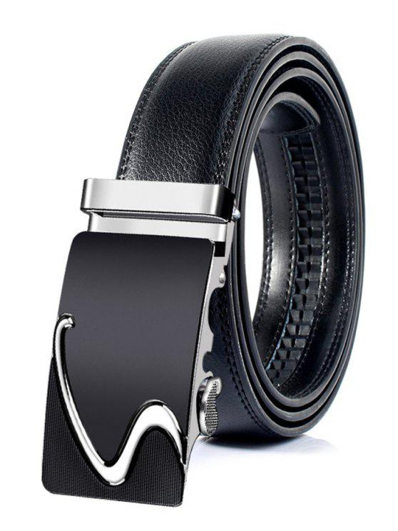 Business Style Automatic Buckle Cinto de couro artificial - Prata 110CM
