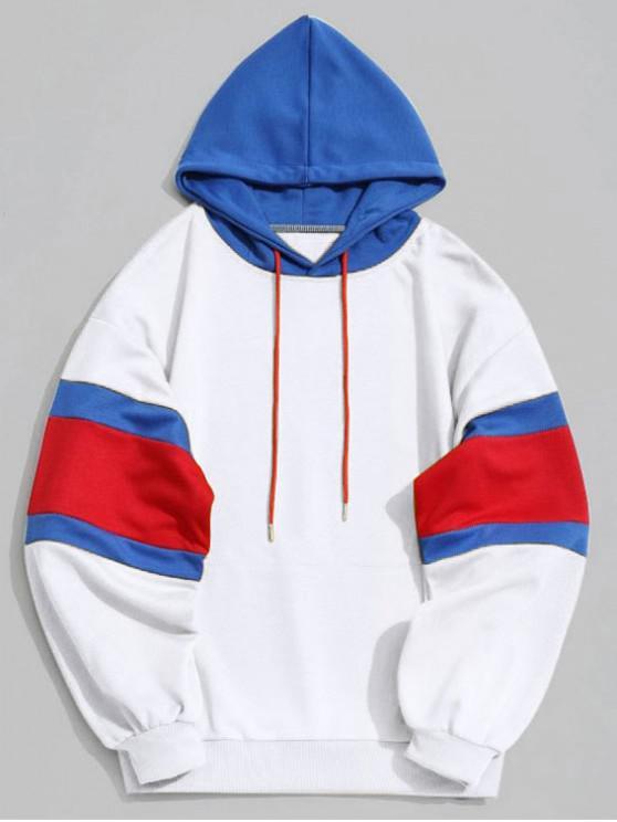 5a6e5ecf22 30% OFF  2019 Kangaroo Pocket Color Block Hoodie Men Clothes In ...