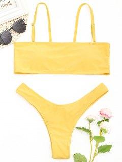 Conjunto De Bikini De Talle Alto Scrunch Butt - Amarillo S