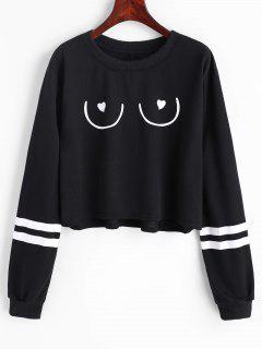 Striped Graphic Sweatshirt - Black M