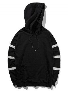 Graphic Pullover Hoodie - Black M